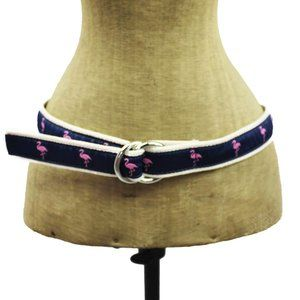 J Crew Pink Flamingo Cloth Belt